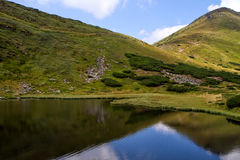 Lac carpathien Nesamovyte Image stock