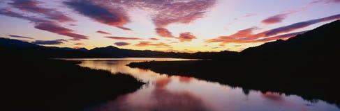 Lac Casitas au lever de soleil Photos stock
