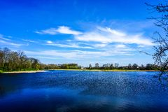 Lac castle de Nesvizh photo stock
