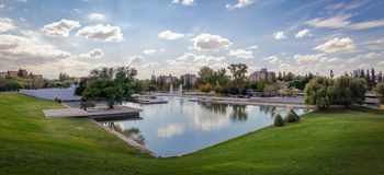 Lac central Park de Parque - Mendoza, Argentine Photo stock