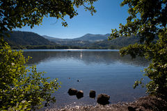 Lac Chambon in Auvergne Stock Photo