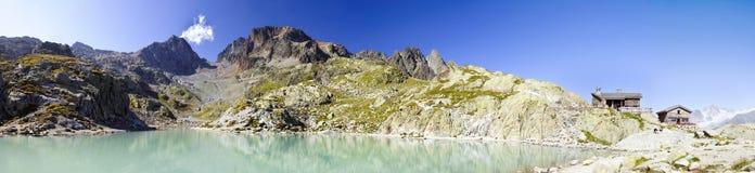 lac chamonix blanc Стоковое Изображение RF