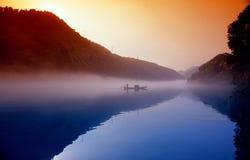 Lac chenzhou Dongjiang de paysage de classe Photographie stock libre de droits