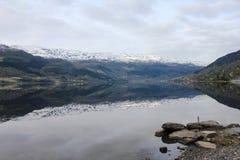 Lac chez la Norvège Photos libres de droits