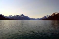 Lac Chilko dans le Canada photos libres de droits