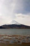 Lac Chungara chile Image stock