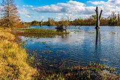 Lac coloré Creekfield à la courbure le Texas de Brazos image libre de droits