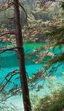 Lac coloré par turquoise Images stock