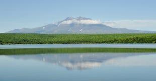 Lac comme miroir Photographie stock