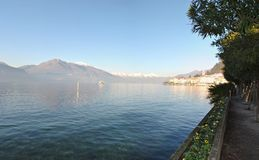 Lac Como bellagio de panorama Photographie stock libre de droits