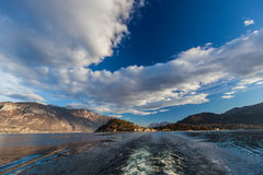 Lac Como - Bellagio, Italie image stock