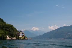 Lac Como Gaeta de villa photographie stock libre de droits