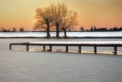 Lac congelé Photo stock