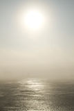 Lac congelé en hiver Photo stock