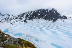 Lac congelé en Norvège photographie stock