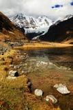 Lac Cordiliera Huayhuash Jahuacocha Photographie stock