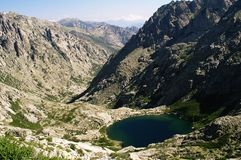 Lac Corse Melo Photographie stock