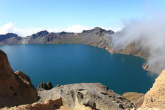 Lac crater de montagne de Changbai Image libre de droits