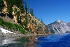 Lac crater du niveau de lac Photo libre de droits