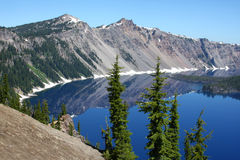 Lac crater, Orégon du RIM Photographie stock libre de droits