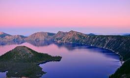 Lac crater, Orégon Photos libres de droits