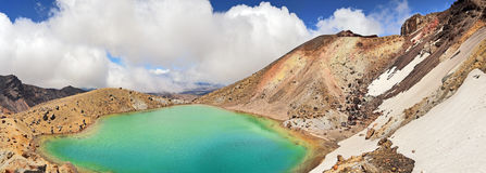 Lac crater - parc national de Tongariro, Nouvelle-Zélande Photographie stock