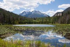 Lac Cub en montagnes rocheuses photos stock