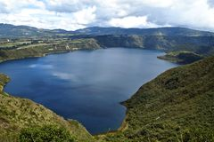 Lac Cuicocha - Equateur image stock