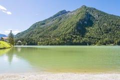 Lac d'Alleghe Photographie stock libre de droits