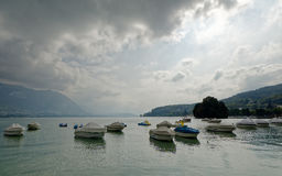 Lac d`Annecy Lake Annecy, France Royalty Free Stock Photo