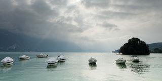 Lac d`Annecy Lake Annecy, France Stock Images