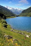 Lake of Artouste in the French Pyrenees. royalty free stock images
