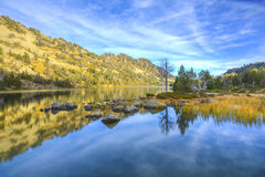 Lac d ` Aubert w Neouvielle masywie Fotografia Royalty Free