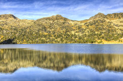 Lac d ` Aubert w Neouvielle masywie Obraz Royalty Free