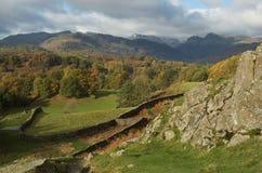 lac d'automne de l'anglais de district d'automne photographie stock