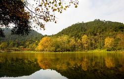 lac d'automne qianing Photos stock