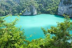 Lac d'eau salée Photo stock