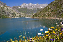 Lac d` Emosson Royalty Free Stock Photos