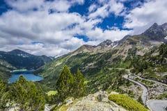 Lac d'Orédon and Pic de Bugatet Stock Image