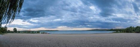 Lac d'Orient, Francja panorama zdjęcia stock
