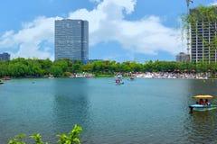 Lac daning de PARC de lingshi de Changhaï Photographie stock