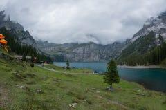 Lac dans la montagne Photos stock
