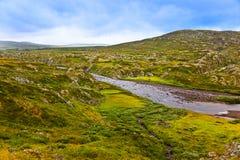 Lac dans la région de Buskerud de la Norvège Image libre de droits