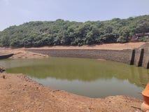Lac dans la station indienne Matheran Charlotte Lake Matheran Maharashtra de colline image libre de droits