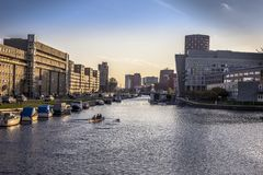 Lac dans la ville de la Haye Photos stock
