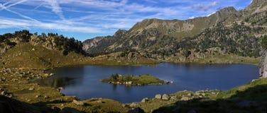 Lac dans le d'Aran de Val Photographie stock