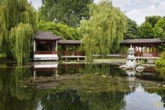 Lac dans le jardin chinois Photos stock