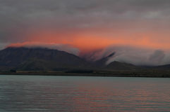 Lac dans les Alpes du sud Photo stock