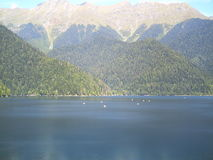 lac dans les bâtis Photo stock