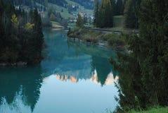 Lac dans les dolomits Image stock